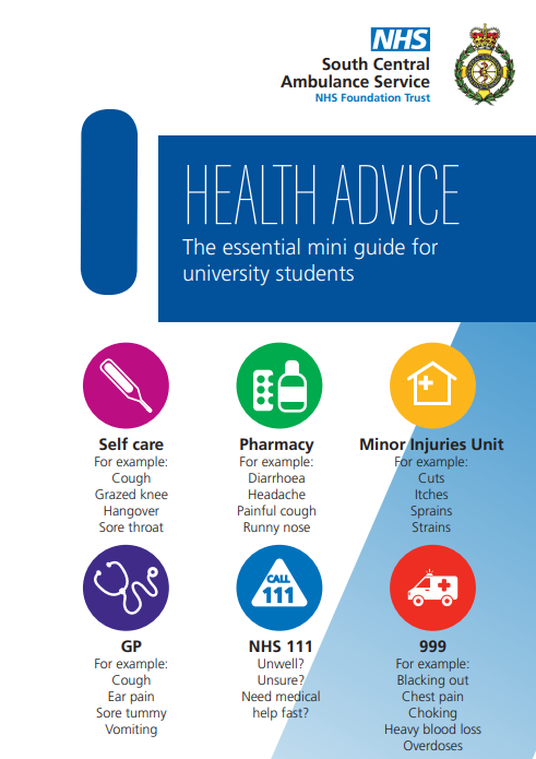 Health Advice -The Essential Mini Guide for University Students